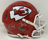Chiefs Super Bowl LIV LE Full-Size Authentic On-Field Speed Helmet Signed by (5) with Patrick Mahomes, Travis Kelce, Tyreek Hill, Damien Williams & Sammy Watkins (Fanatics Hologram) at PristineAuction.com