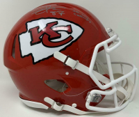 """Travis Kelce Signed Chiefs Super Bowl LIV Full-Size Authentic On-Field Speed Helmet Inscribed """"SB LIV Champs"""" (Fanatics Hologram) at PristineAuction.com"""