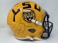 "Joe Burrow Signed LSU Tigers Full-Size Speed Helmet Inscribed ""19 Heisman"" (Fanatics Hologram) at PristineAuction.com"