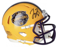 Joe Burrow Signed LSU Tigers 2019 National Champs Mini Speed Helmet (Fanatics Hologram) at PristineAuction.com