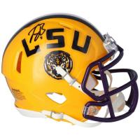Joe Burrow Signed LSU Tigers Mini Speed Helmet (Fanatics Hologram) at PristineAuction.com