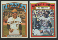 Lot of (2) Roberto Clemente 1972 Topps Baseball Cards with (1) #309 & (1) 1972 #310 IA at PristineAuction.com