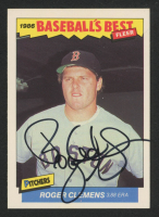 Roger Clemens Signed 1986 Fleer Sluggers/Pitchers #7 Baseball Card (JSA COA) at PristineAuction.com