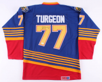 Pierre Turgeon Signed Blues Jersey (JSA COA) at PristineAuction.com