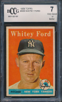 Whitey Ford 1958 Topps #320 (BCCG 7) at PristineAuction.com