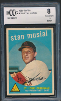 Stan Musial 1959 Topps #150 (BCCG 7) at PristineAuction.com