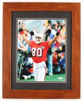 Jerry Rice Signed 49ers 17x21 Custom Framed Photo (PSA COA) at PristineAuction.com