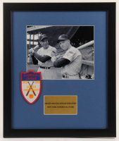 Joe DiMaggio & Mickey Mantle Yankees 16x19 Custom Framed Photo Display with A.L. Patch at PristineAuction.com
