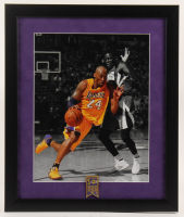 Kobe Bryant Lakers 16x19 Custom Framed Photo Display with Lakers Championships Pin at PristineAuction.com