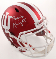Bob Knight Signed Indiana Hoosiers Full-Size Matte Red Speed Helmet (Beckett COA) at PristineAuction.com