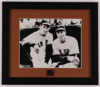 Joe DiMaggio & Ted Williams 13x15 Custom Framed Photo Display with MLB Pin at PristineAuction.com
