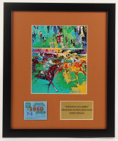 """LeRoy Neiman """"Kentuck Derby"""" 16x19 Custom Framed Print Display with Kentucky Derby Ticket at PristineAuction.com"""