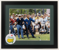 Arnold Palmer & Sam Snead 16x19 Custom Framed Photo Display with Masters Patch at PristineAuction.com