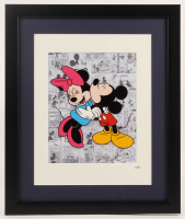"""Walt Disney's """"Mickey & Minnie Mouse"""" 16x19 Custom Framed Hand-Painted Animation Serigraph Display at PristineAuction.com"""
