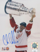 Chris Chelios Signed Red Wings 8x10 Photo (JSA COA) at PristineAuction.com