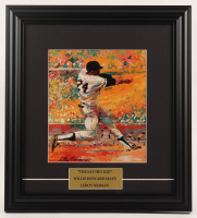 Willie Mays Giants 14.5x16 Custom Framed LeRoy Neiman Print Display at PristineAuction.com