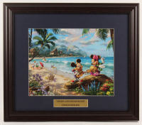 "Thomas Kinkade Walt Disney's ""Mickey & Minnie Mouse"" 16.5x18 Custom Framed Print Display at PristineAuction.com"