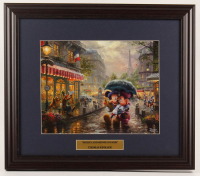 "Thomas Kinkade Walt Disney's ""Mickey & Minnie in Paris"" 16x18.5 Custom Framed Print Display at PristineAuction.com"
