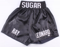 Sugar Ray Leonard Signed Boxing Trunks (Beckett COA) at PristineAuction.com