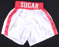 Sugar Ray Leonard Signed Boxing Trunks (Beckett COA) at PristineAuction.com