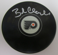 Bobby Clarke Signed Flyers Logo Hockey Puck (JSA COA) at PristineAuction.com