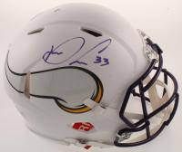 Dalvin Cook Signed Vikings Full-Size Authentic On-Field Matte White Speed Helmet (Radtke COA) at PristineAuction.com