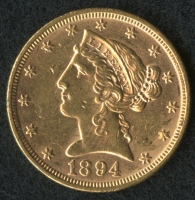1894 $5 Liberty Gold Coin at PristineAuction.com