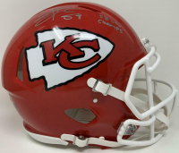 """Travis Kelce Signed Chiefs Full-Size Authentic On-Field Speed Helmet Inscribed """"SB LIV Champs"""" (Fanatics Hologram) at PristineAuction.com"""