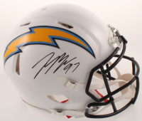 Joey Bosa Signed Chargers Full-Size Authentic On-Field Speed Helmet (Beckett COA) at PristineAuction.com