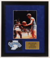 Larry Bird Indiana State Sycamores 16x19 Custom Framed Photo Display with Indiana State Patch at PristineAuction.com