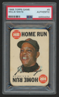 Willie Mays 1968 Topps Game #8 (PSA Authentic) at PristineAuction.com