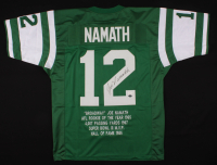 Joe Namath Signed Career Highlight Stat Jersey (JSA COA) at PristineAuction.com