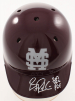 """Brent Rooker Signed Mississippi State Bulldogs Mini Batting Helmet Inscribed """"2017 SEC POY"""" (Sids Graphs COA) at PristineAuction.com"""
