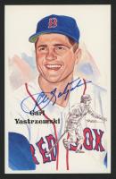 Carl Yastrzemski Signed Red Sox LE 1989 Perez-Steele Hall of Fame Postcard #204 (JSA COA) at PristineAuction.com