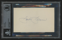 Jackie Jensen Signed 3x5 Index Card (BAS Encapsulated) at PristineAuction.com