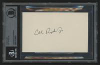Cal Ripken Jr. Signed 3x5 Index Card (BGS Encapsulated) at PristineAuction.com