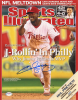 Jimmy Rollins Signed Phillies 11x14 Photo (PSA Hologram) at PristineAuction.com