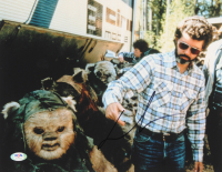 """George Lucas Signed """"Star Wars: Return of the Jedi"""" 11x14 Photo (PSA COA) at PristineAuction.com"""