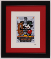 """Walt Disney's Mickey Mouse """"Steamboat Willie"""" 13x15 Custom Framed Hand-Painted Animation Cel Display at PristineAuction.com"""
