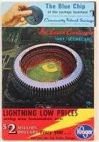 Vintage 1967 Cardinals Scorecard at PristineAuction.com