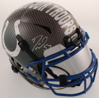 Darius Leonard Signed Colts Full-Size Authentic On-Field Hydro-Dipped Vengeance Helmet with Mirrored Visor (JSA COA) at PristineAuction.com