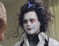 "Johnny Depp Signed ""Edward Scissorhands"" 11x14 Photo (PSA COA) at PristineAuction.com"