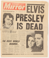 "Original August 17, 1977 ""Elvis Presley Is Dead"" Daily Mirror Newspaper at PristineAuction.com"