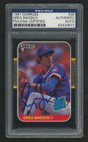Greg Maddux Signed 1987 Leaf/Donruss #36 RR RC (PSA Encapsulated) at PristineAuction.com