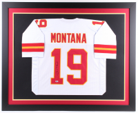 Joe Montana Signed 35.5x43.5 Custom Framed Jersey (Beckett COA) at PristineAuction.com