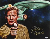 "William Shatner Signed ""Star Trek"" 16x20 Photo Inscribed ""Capt. Kirk"" (Beckett COA) at PristineAuction.com"