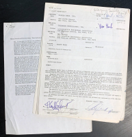 "Mel Brooks Signed Original ""Blazing Saddles"" Contract as the Director Between Warners Bros. & Crossbow Productions (PSA COA) at PristineAuction.com"