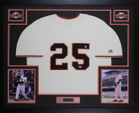 Barry Bonds Signed 35x43 Custom Framed Jersey (Beckett COA) at PristineAuction.com