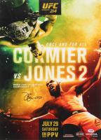 "Jon ""Bones"" Jones Signed UFC 214 Fight Poster vs. Cormier 16x22 Photo (PSA COA) at PristineAuction.com"