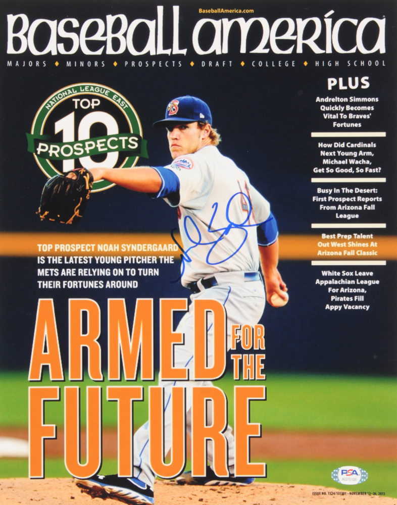 Noah Syndergaard Signed Mets 11x14 Photo (PSA Hologram) at PristineAuction.com